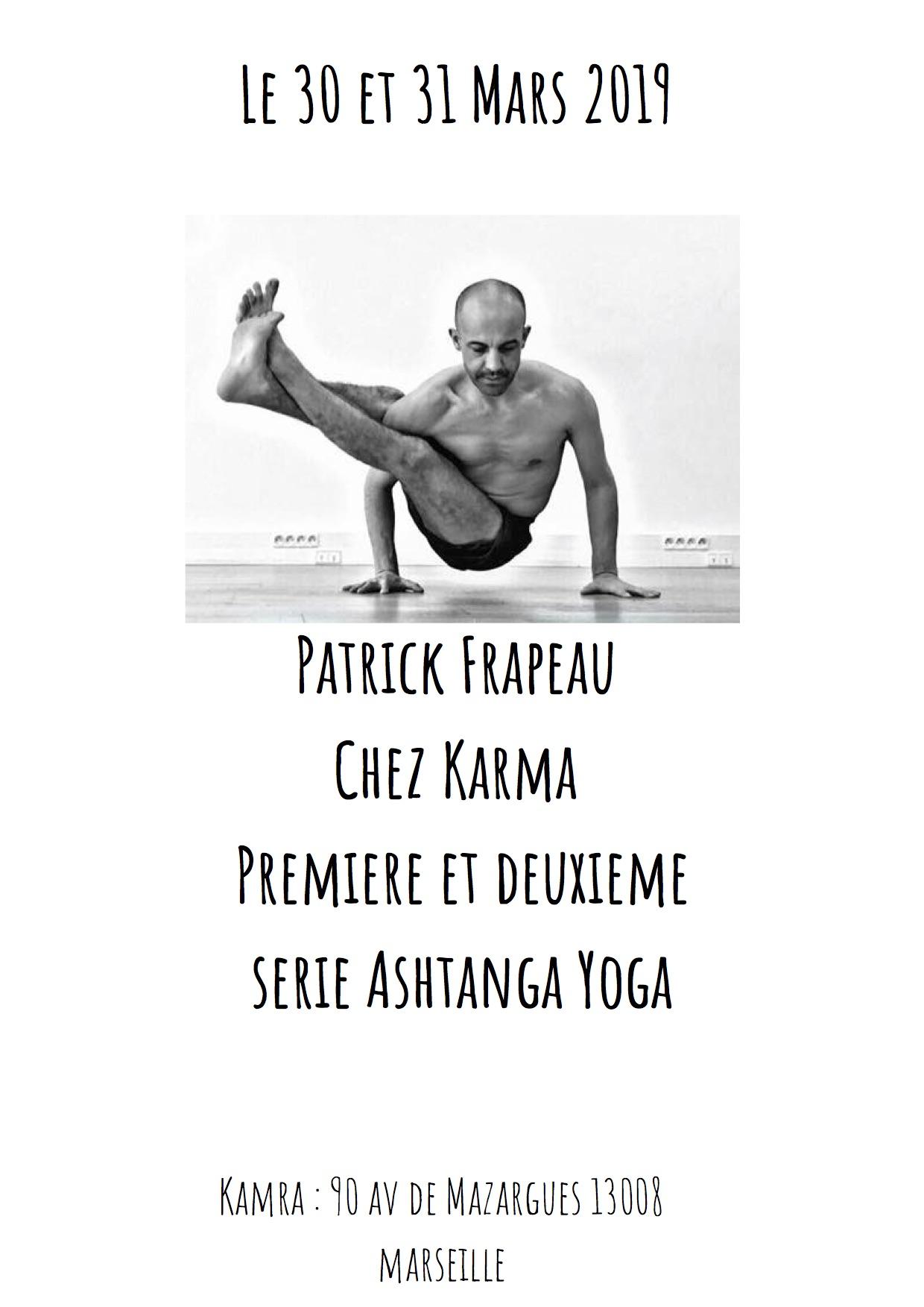 Patrick Frapeau Chez Karma Premiere et deuxieme serie Ashtanga Yoga - copie
