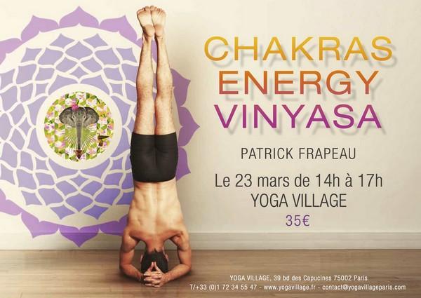 Atelier avec Patrick Frapeau Chakra energy vinyasa
