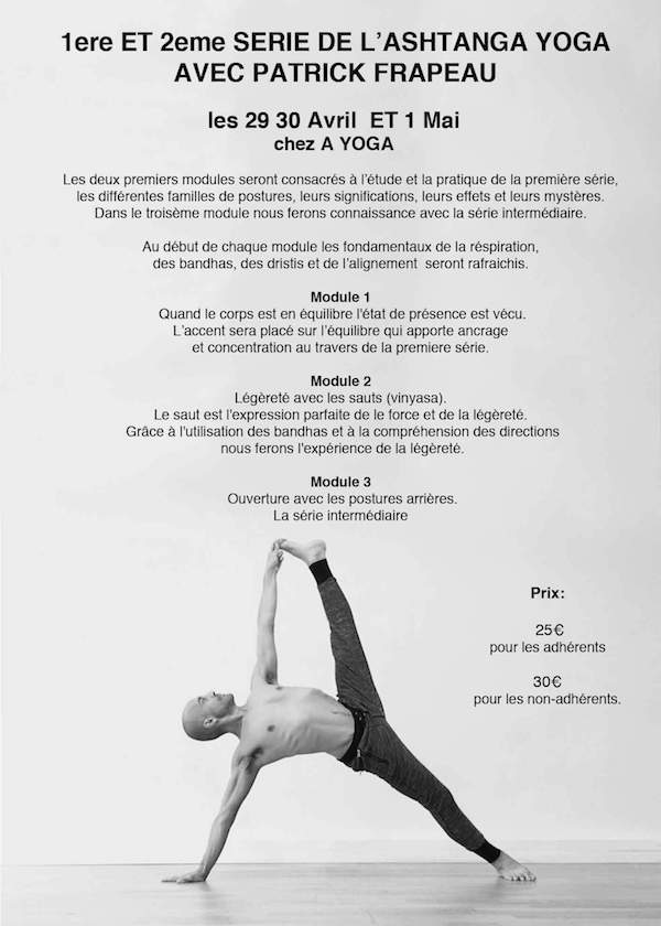 Ashtanga yoga authorized level 2 teacher advance série